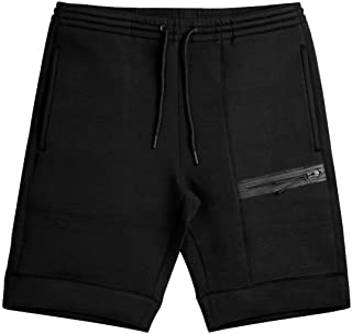 FLYFIREFLY Men's Gym Workout Shorts Bodybuilding Running Fitted Training Jogging Short Pants