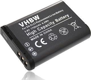 vhbw Batería 1700mAh (3.8V) para cámara Nikon CoolPix B700 y EN-EL23.