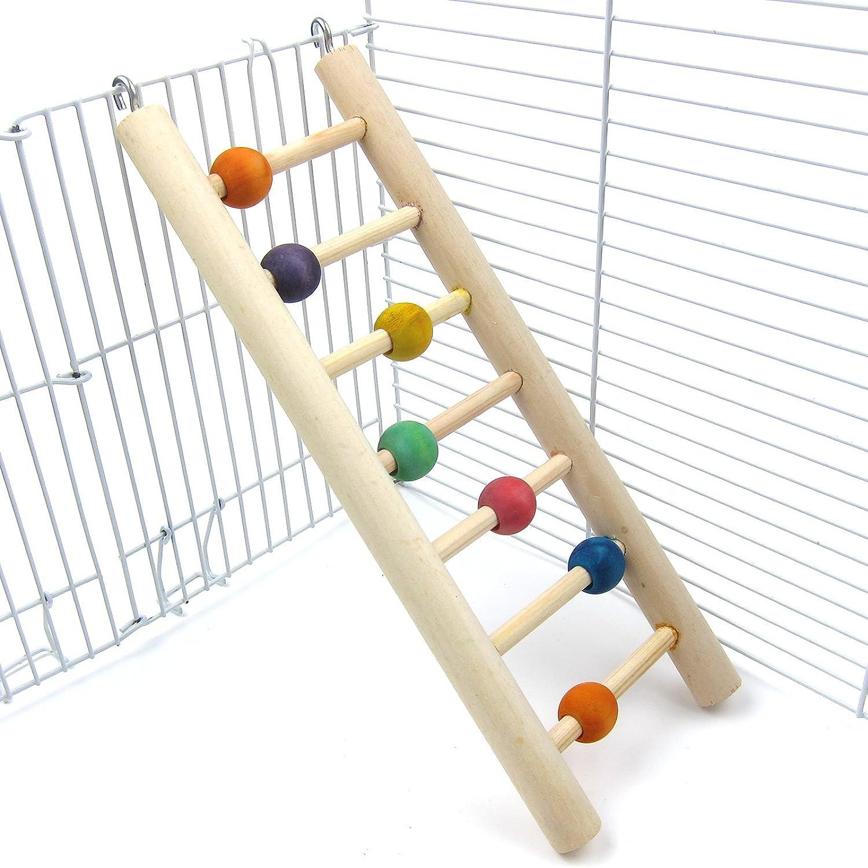 Alfie Pet  Quinlan Hanging Wooden Ladder Toy for Birds  Size  Medium