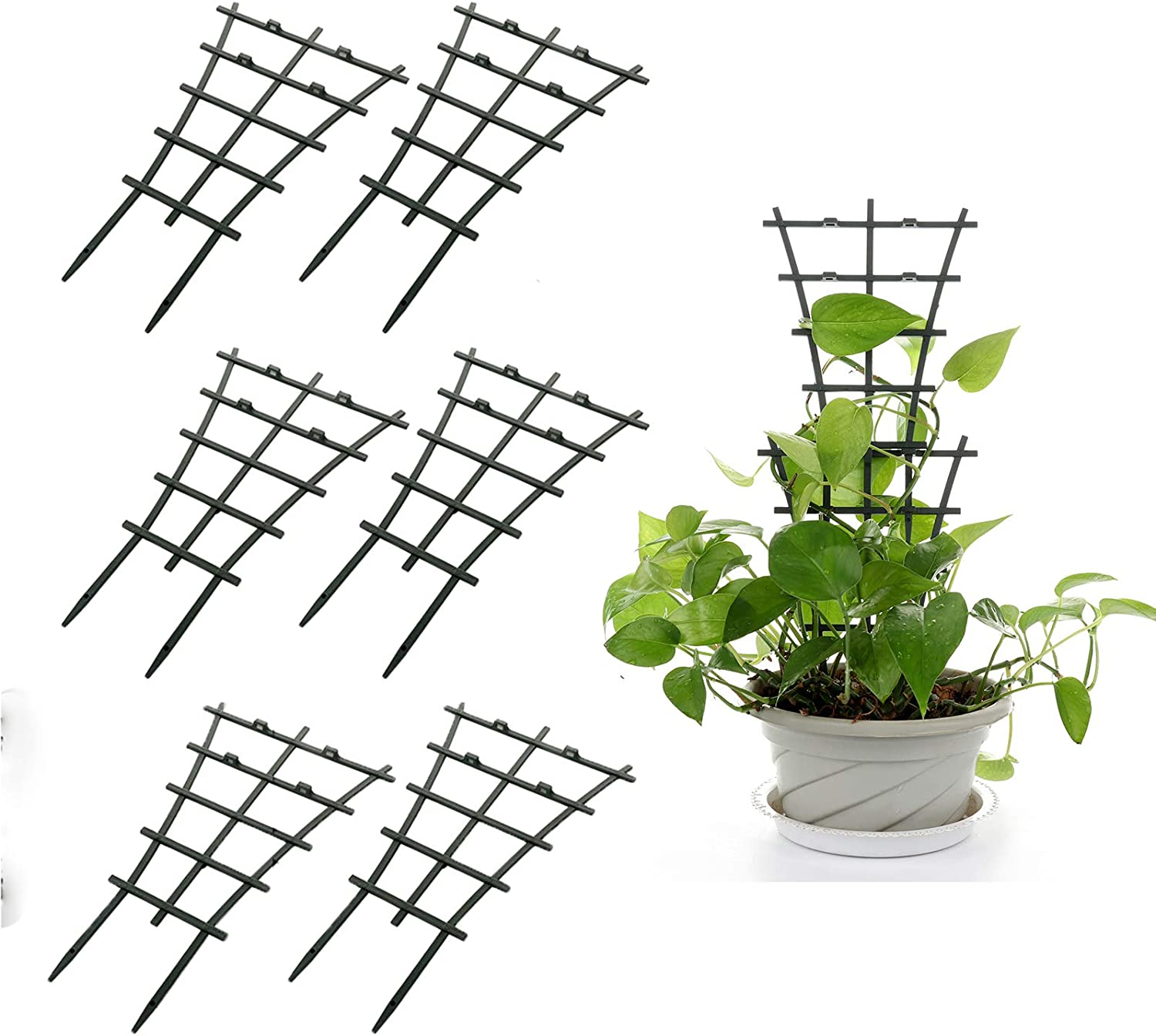 GWOKWAI 200Pcs Plant Support Clips Strong Tomato Veggie Fixed Buckle Reusable Garden Plant Grafting Fixed Buckle for Climbing Plant Vegetables Garden Planting