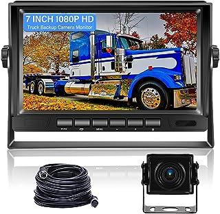 $79 » RV Backup Camera Kit, Hikity 7 Inch 1080P Reversing Monitor Night Vision IP69 Waterproof Rear View Camera High-Speed Rever...