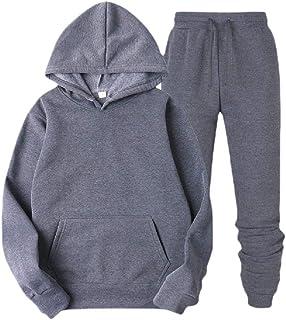 Nanquan Men 2 Pcs Outfits Sweatsuit Casual Active Letter Print Tracksuits