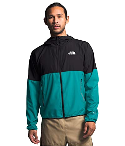 The North Face Flyweight Hoodie (Fanfare Green/TNF Black) Men