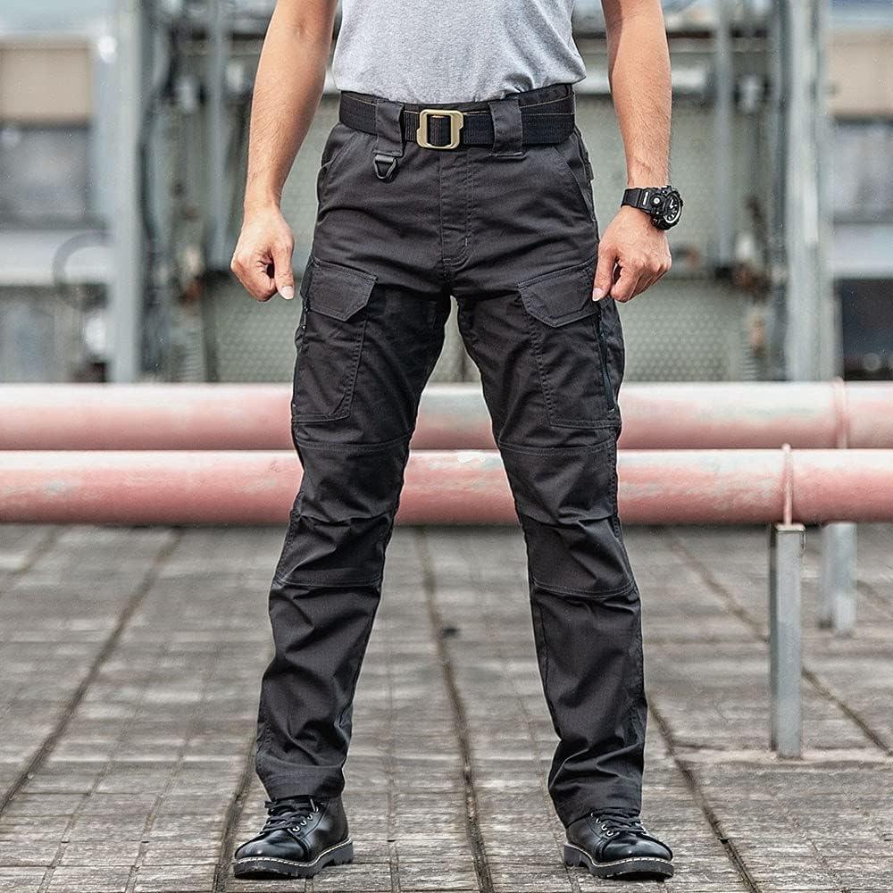 YIYINGSI Men's Waterproof Tactical Pants - Multi-Pocket Military