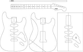 Electric Guitar Routing Template - STRATS