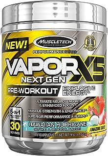 MuscleTech Vapor X5 Next Gen Pre Workout Powder, Explosive Energy Supplement, Hawaiian Hurricane, 30 Servings (9.6oz)