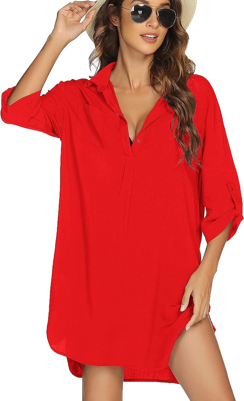 Avidlove Cover ups for Swimwear Women Beach Coverup Shirts Button Up Swimsuit