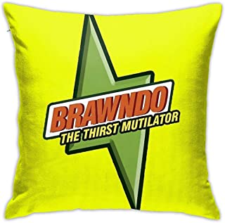 JACHE Brawndo Logo Decorative Throw Pillow Covers for Sofa Couch Cushion Pillow Cases 18x18 Inch