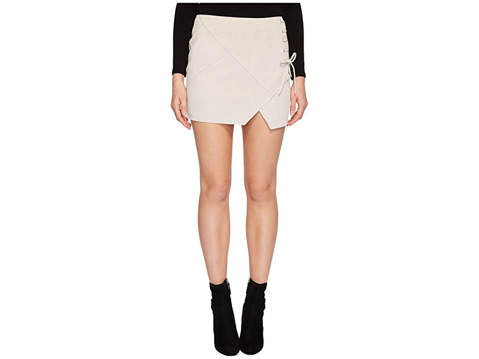 Blank NYC Real Suede Mini Skirt with Lacing Detail in Blondie (Blondie) Women
