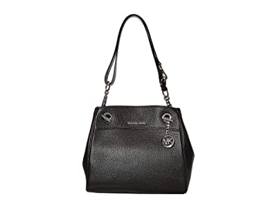 MICHAEL Michael Kors Jet Set Chain Legacy Medium Convertible Shoulder (Black) Shoulder Handbags