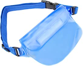 DURAGADGET Blue Phone Waterproof Waist Bag Wallet - Compatible with Alcatel One Touch 6010|One Touch 20 05|One Touch 20 10|One Touch Tribe 3040|One Touch Idol Ultra