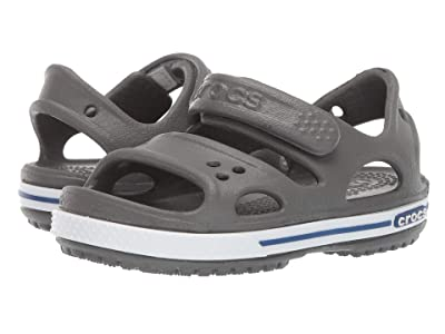 Crocs Kids Crocband II Sandal (Toddler/Little Kid) (Slate Grey/Blue Jean) Kids Shoes