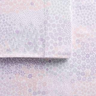 Cuddl Duds Queen Flannel Sheet Set 4 Piece 100% Cotton Deep Pocket Heavyweight Bed Sheets - Multi Floral