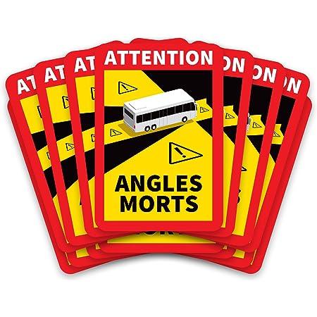 Kit de 50 Stickers Angles Morts Officiels pour Bus Poids Lourd Adhésif Car Autocollant