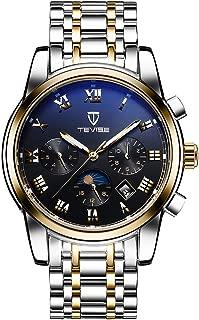 P Prettyia 腕時計 メンズ ビジネス ウォッチ 24時間表示 ローマ数字 防水 時間 日付 週 月 全5色 - ゴールドブラック