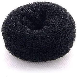 Beaute Galleria Hair Donut Bun Maker Ring Style Mesh Chignon Ballet Sock Bun (X-Large, Black)