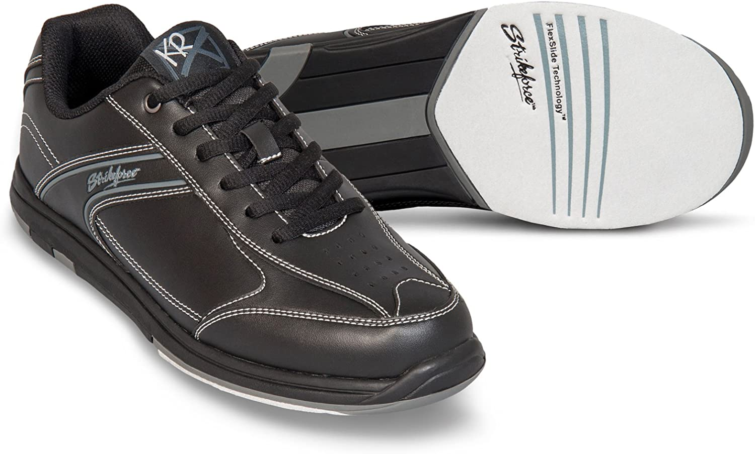 KR Strikeforce M-030-070 Flyer Bowling shoes, Black, Size 7