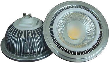 LED Light Bulbs 2 Stuks Cob Schijnwerpers 15w AR111 ES111 Leidde AR111 Lamp Beans Grote Spanning 85-265V G53 (Size : Natur...