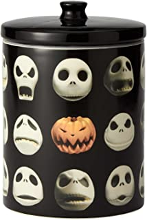 Enesco 6001019 Disney Ceramics Nightmare Before Christmas Jack Skellington Cookie Jar Canister, 9.25 inch, Black