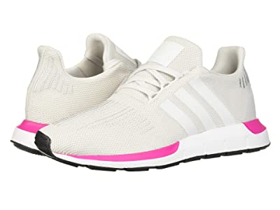 adidas Originals Kids Swift Run J (Big Kid) (Crystal White/Black) Girls Shoes