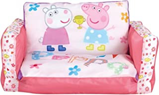 Peppa Pig - Inflatable Chair for Kids with Removable Cover - Flip Out Sofa Folds Out to a Lounger