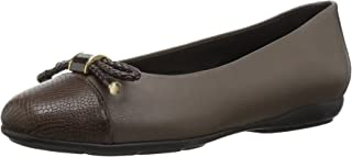 Women's Annytah 6 Ballet Round Toe Flats with Bow-Arch Support and Cushioning