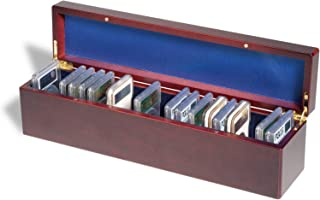 (1) Lighthouse Mahogany Wood Grain Finish Storage Box for 25 Certified Graded Coin Slabs with Magnetic Closure