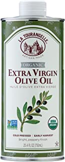 La Tourangelle, Organic Extra Virgin Olive Oil, Cold-Pressed High Antioxidant Picual Olives From Spain, 25.4 fl oz