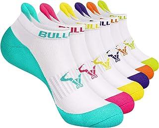 BULLIANT Running Socks for Women Heel Tab Full Cushion, 6 pairs