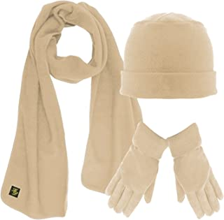 tan scarf and gloves