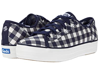 Keds DRAPER JAMES Triple Kick DJ Dolly Check (Navy/White) Women