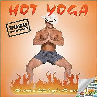 Hot Men Doing Yoga Calendar 2020 Set - Deluxe 2020 Hot Yoga Wall Calendar with Over 100 Calendar Stickers (Yoga Gifts, Office Supplies)