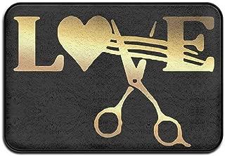 Stylist Barber Hair Cut Salon Scissor Welcome Door Mat Entrance Mat Floor Mat Rug Indoor/Outdoor/Front Door/Bathroom/Kitchen Mats Rubber Super Absorbent Non Slip 24