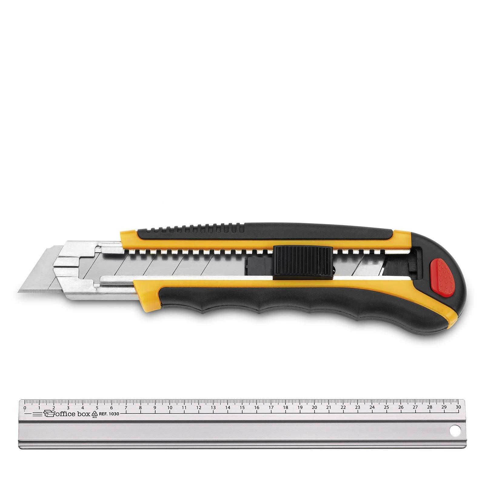 3 Claveles - Pack Cutter Alto Rendimiento Metálico con Armazon Nylon/ABS (Mod. 208 Regla): Amazon.es: Bricolaje y herramientas