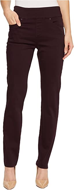 D-Lux Denim Pull-On Slim Jeggings in Aubergine