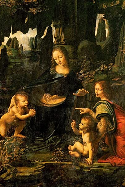 Amazon Com Leonardo Da Vinci Madonna Virgin Of The Rocks 1483 Oil On Panel Cool Wall Decor Art Print Poster 12x18 Posters Prints