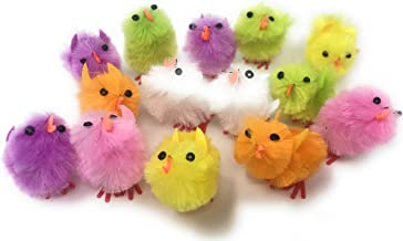 Funiverse Bulk 72 Pack Chenille Chick Baby Shower or Easter Decoration Assortment