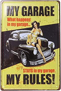VOSAREA Vintage Metal Tin Sign Truck Coffee Cup Signs Retro Vintage Bar Metal Tin Sign Poster Style Wall Art Pub Bar Decor...