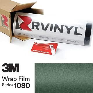 3M 1080 M206 Matte Pine Green Metallic 4in x 6in (Sample Size) Vinyl Vehicle Car Wrap Film Sheet Roll