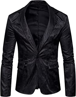 WHATLEES Mens Long Sleeve Skinny Suit With Paisely Jacquard