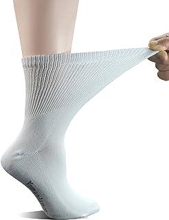 calcetines de algodón para mujer, para diabéticos/vestido sin costuras, 5 pares