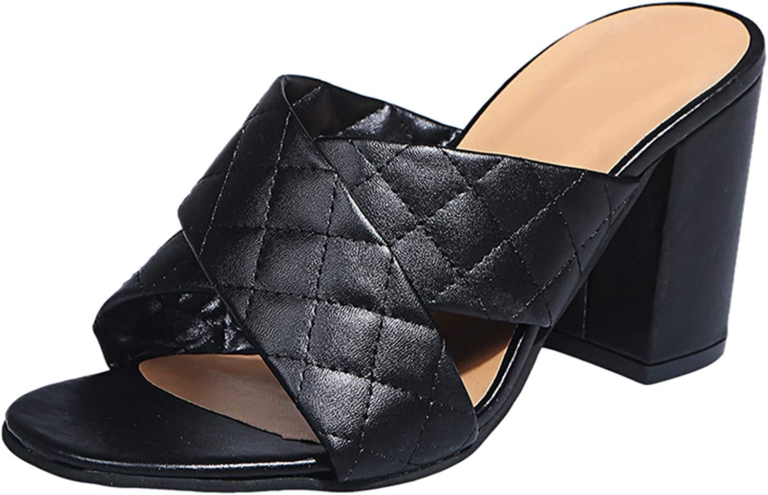 Price reduction Bravetoshop Women's Chunky High Heel Sandals Sl Open Toe Slip On Sales of SALE items from new works