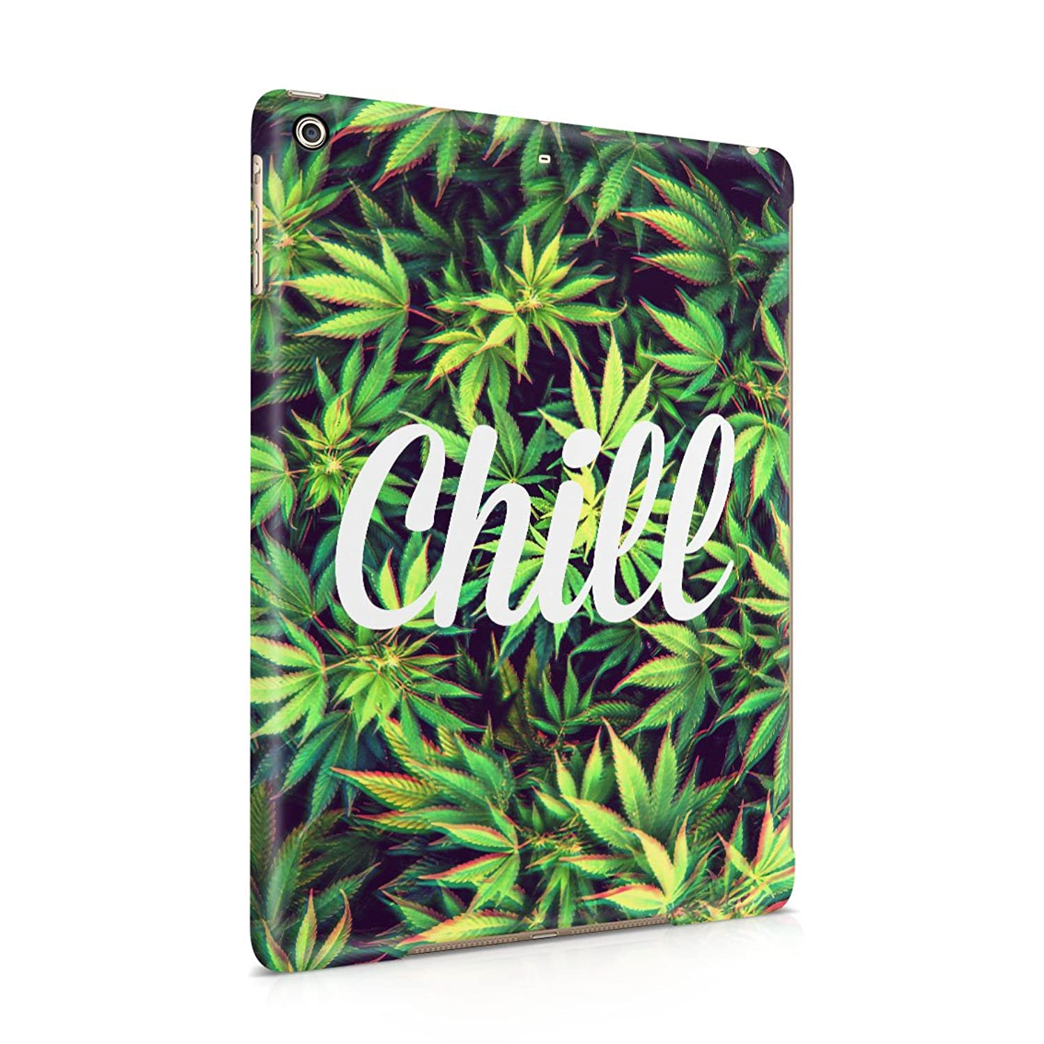 Chill Trippy Cannabis Leaves Pattern Plastic Tablet Snap On Back Cover Shell For iPad Air