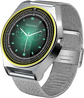 Moda Smart Watch Men Support Tarjeta SIM con Podómetro De Cámara Bluetooth 3.0 Sleep Tracker Smartwatch para Teléfono Android iOS