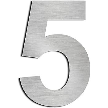 number 8 Nanly Num/éro de maison 1 adh/ésif en acier inoxydable 304 solide Aspect flottant Hauteur 10 cm