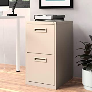2-Drawer Mobile Vertical Filing Cabinet, Primary Material: Metal, Commercial Use: Yes