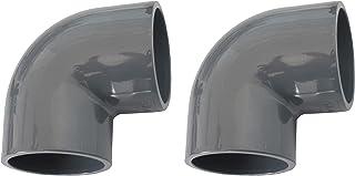 well2wellness® PVC złączka klejąca kąt 90° - 50mm - 2 sztuki (200017)