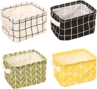 TCHH-DayUp Mini Storage Basket(Pack of 4)- Blend Storage Bins for Makeup, Book, Baby Toy,8.26x6.29x5.1 inch Home Decor Can...