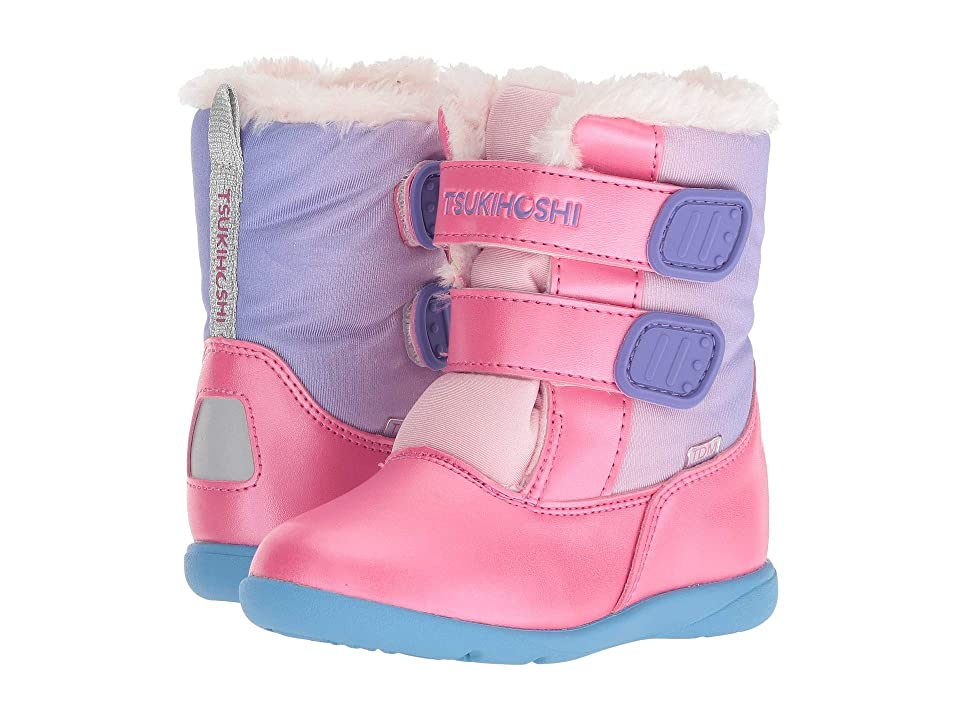 Tsukihoshi Kids Teddy (Toddler/Little Kid) (Fuchsia/Purple) Girls Shoes