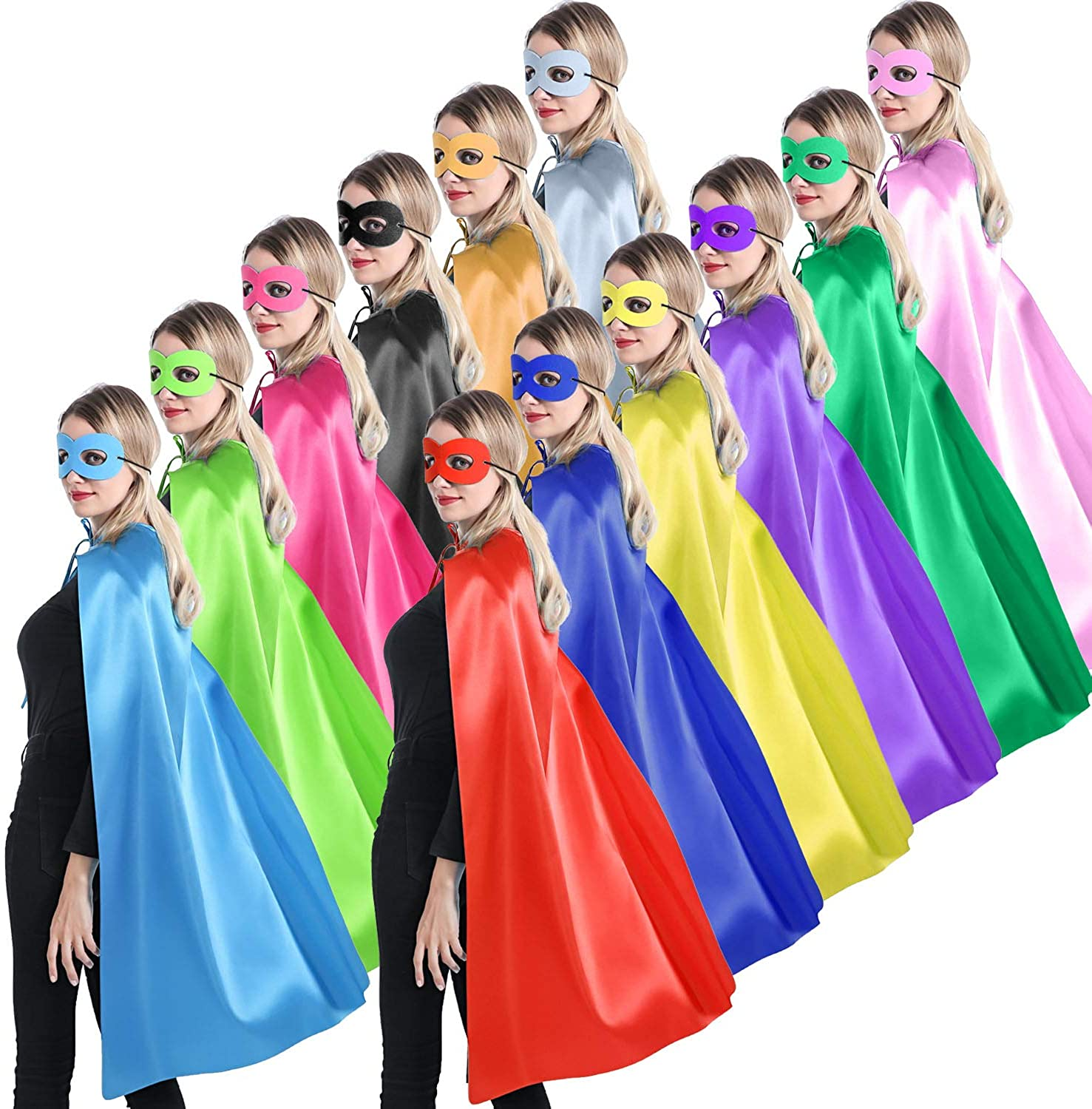Adults Superhero Capes and Masks for Women Teenagers - Man Sale safety item Pa or